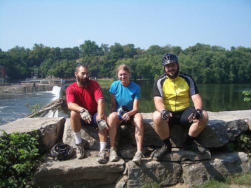 Dan, Trish, and Me at Dam 5